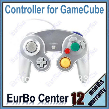 Silver One Button Style Game Controller for GameCube and for Wii (EW023-SL)