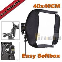 "Foldable Portable SoftBox 40x40cm(15.7"") Flash EASY SOFTBOX for Speedlite Flash Light"