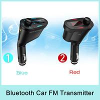 Hot Sale Car MP3 Player Wireless FM Car Transmitter FM Modulator Support SD/USB/MMC Blue/Red/Green &Drop Shipping