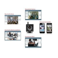 Freeshipping Tenvis Mini319W Wireless IP Camera WiFi CMOS IR LED 2-Way Audio Night Vision CCTV Security System Black