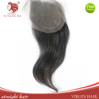 "Straight 8-22in Virgin Hair Lace Top free style Closure(4""*4"") with PU Edge Baby Hair Free Shipping For Your Nice Hair"