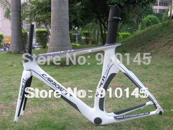 New Arrival !! Free Shipping !! 2012 New Design Aero Carbon TT Frame White color