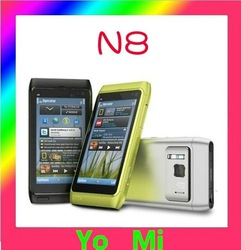 Free shipping Original N8 Touchscreen Unlocked Mobile Phone 16GB Internal 3G WIFI GPS 12.1MP(China (Mainland))
