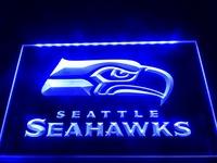 LD242- Seattle Seahawks Bar Pub Neon Light Sign hang sign home decor shop crafts led sign
