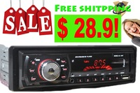 Car Audio Stereo Car MP3 Player 12V USB/SD/Single Spindle In-Dash Trainborn Radio FM Free shipping!