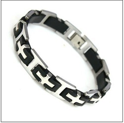 Hot selling free shipping stainless steel bracelets men jewelry fashion steel 210mm 304 Stainless Steel Men's Bracelet #BA100163(China (Mainland))