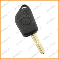 free shipping  car remote key fob case uncut 2 buttons for citroen no logo wholesale