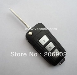 for Toyota Highland , Camry , Yaris modified flip 3 button remote key change shell(China (Mainland))
