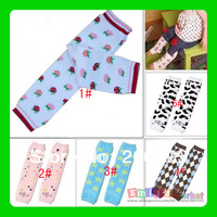 Hot selling!!! Free shipping 1pair  mix styles cartoon Long baby leg warmers winter(stock:#2,#3,#5)