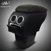 Car Armrests box Store content box leather seat storage decoration products accessories,suitable for Kia Rio K2 2011-2014