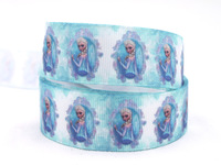 "Free shipping 1"" 25mm Elsa Ribbon Frozen Party ribbon Printed grosgrain sewing supplies Ribbon 50 yards/roll XZD--1644"