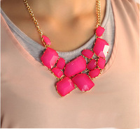 Min Order 10USD Multicolor Fashion Vintage Resin Christmas Chains Choker Necklace