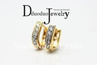 Zircon Jewelry  18k  gold plated  Hoop  Fashion Zircon Earrings Jewelry