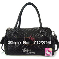 2014 Fashion Hello kitty Black Big Shoulder Bag Women's handbag Travelling Bags Drop Price HK22