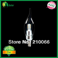led candle lighting SMD 3W Samsung Chip Light dimmable bulb E14 optional lamp base CE ROHS----10pcs/lot Free Shipping