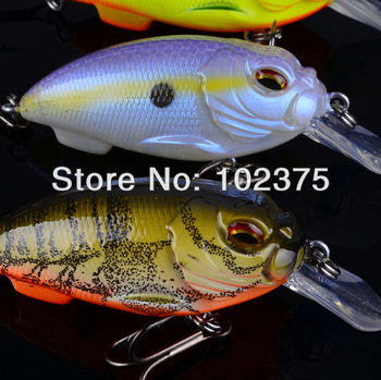 8pc Exported to Usa Market 3D Crank Lures 8 color Fishing Bait 13.6g/7.1cm High Quality Fishing lure  With 6# Hook Free Ship