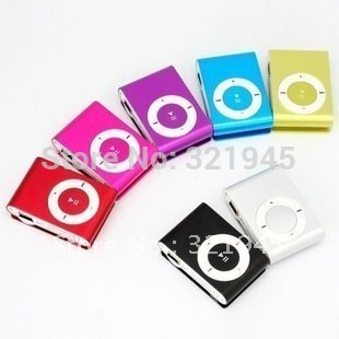 MINI Flash Gift clip MP3 Player with 8 color support 8GB Micro SD/TF card slim mp3 player + earphone + USB data cable(China (Mainland))