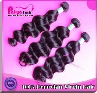 Free shipping wet and wavy virgin hair peruvian natural wave 5pcs/lot & 10-32inch & color 1b Peruvian virgin hair