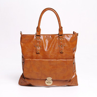 2014 hot sale new Fashion Women's PU leather large brown Bucket handbag for wholesale & retail