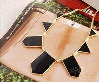 HOT Big Star style Hilton Love black geometric irregular short charm Necklace N2