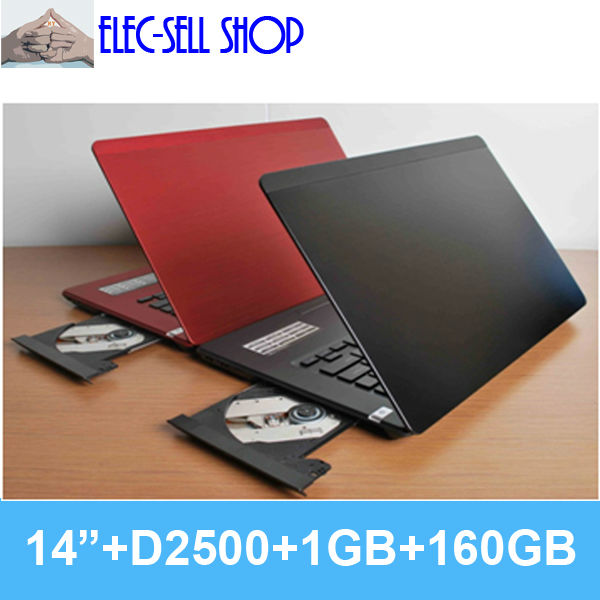 Brand new laptops notebook computer L700 14 inch 1GB/160GB real Dual core Intel D2500 CPU 1.86GHz with DVD RW(China (Mainland))