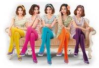 Free shipping Sexy stockings Pantyhose Fashion women Leggings Candy color 6pcs/lot