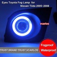 China Factory Angel Eyes Fog Lamp for Nissan Tiida 2005~2008 ON