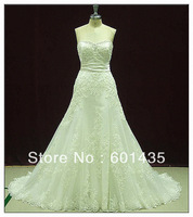 Free shipping ! WR2118 Latest Design Real Sample Luxury Beaded Lace Wedding Dress 2014