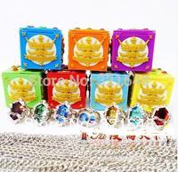 Katekyo Hitman Reborn Vongola 7 Ring + 7 Necklace + 7 Box Cosplay Jewelry Sets Free Shipping