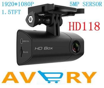 2013 Newest HD118 1080P Full HD Car DVR Recorder With 1.5 LCD 5MP Sensor H.264 G-Sensor Car Black Box  MINI sport camera