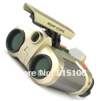 Free Shipping 4 x 30mm Night Vision Surveillance Scope Binoculars Telescopes with Pop-up Light