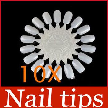10x False Nail Tips Art Display Practice Wheel Board #3