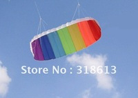 Free shipping 2.0m polyester rainbow power kite,trainer kite