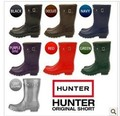 free shipping,2013 fashion Hunter rain boots low heels waterproof women short boots,women rainboots,woman water shoes, 7 color