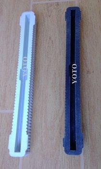 1pc/set  Superior Nylon plastic material Black &White color  Longboard/Surfboard FCS center fin box 10''