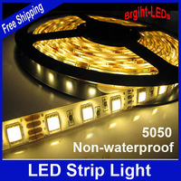 NEW 2013 LED NON-Waterproof Strip SMD 5050 LED 5M DC12V Flexible Light  saving string light novelty households christmas