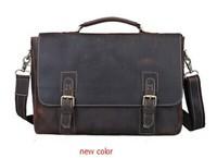Cattle crazy horse leather commercial man bag male fashion vintage genuine leather cowhide handbag one shoulder briefcase