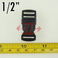 "Free shipping (10pcs) Webbing 1/2"" 12mm Contoured Plastic Side Release Buckle for 550 Survival Paracord Bracelet Bag Accessories"