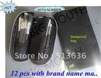 Wholesale(20Set/lot) Professional New Professional Makeup 12 PCS Brush Cosmetic Make Up Set With 2 Case Bag Kit, Free shipping
