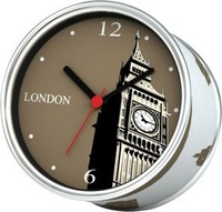 Free Shippment 2014 Mix Design of London Paris New York Silent Sweep Wall Clocks Magnetic For Kitchen Time