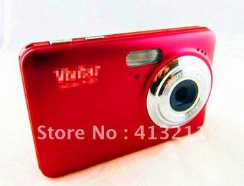 (F127)New design+hot selling+12MP Digital camera 2.7''Screen 4X digital zoom+Multi-Languages+Free shipping+Free camera bag gift