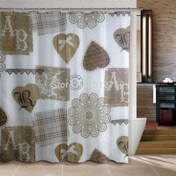 Bathroom products Fabric Shower Curtain 180x180cm bath curtain bathroom curtain shower waterproof w/ shower hooks blue fish sea