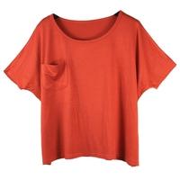 Free shipping!Casual Women Short sleeve Pocket Loose dustcoat T-shirt/-CG016
