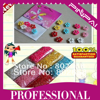 Free Shipping(12 Packs/Lot ) Resin 3D Nail Art  Nail Decoration New  With 6 Different Colors Flowers