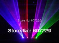 750mw Professional Stage laser Lighting 4 Heads 4 Lens 4 colors RGPB DJ Laser Light Show Beam  sound active,DMX,Manual