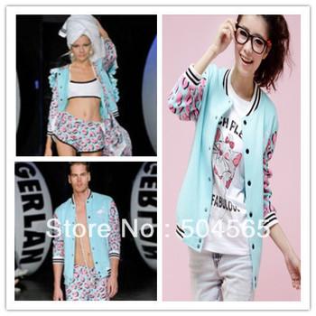 Fashion Color Matching Thickening Hoodies Women's Cardigans Sweatshirts Baseball Cotton Jackets CO-102