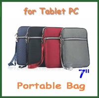 10pcs Universal 7 inch Portable Bag Case Comfort for Tablet PC 7 inch Q88 Ainol Novo 7 Crystal Venus AX1 Fire Flame Pipo S1