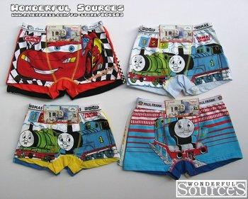 Free shipping 12 pcs/lot,children boy boxers/underpants,100% cotton cartoon kids underwear,infant  pants,kids clothing