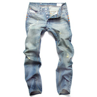 HOT Sell !! free shipping brand jeans fashion men's,Straight Blue Men's Jeans, Size W28-40AD9605