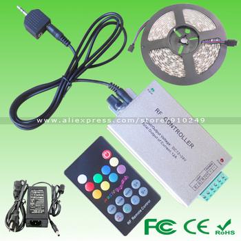LED christmas lights! Waterproof 5M 16.4ft SMD5050 300LED Dancing RGB LED strip+Controller(DJ/Soft/Popular Music)+Power Adapter